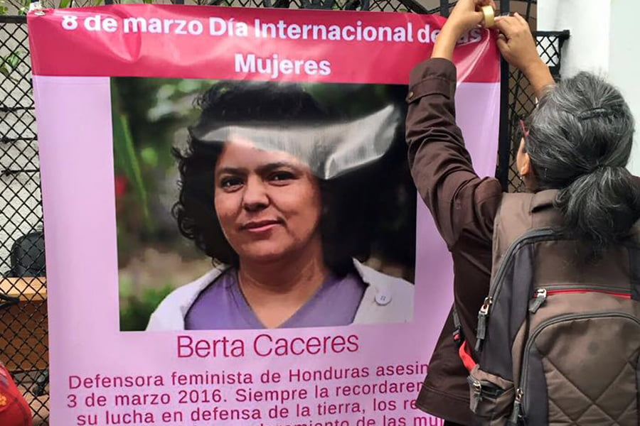 Exige Copinh sentencia inmediata por asesinato de defensora Berta Cáceres
